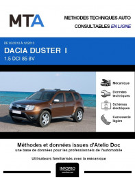 MTA Dacia Duster I BREAK 5 portes de 03/2010 à 12/2013
