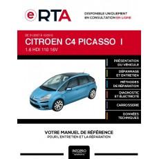 E-RTA Citroen C4 picasso I MONOSPACE 5 portes de 01/2007 à 10/2013