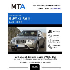 MTA Bmw X3 II BREAK 5 portes de 09/2010 à 06/2014
