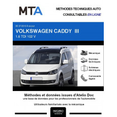 MTA Volkswagen Caddy III BREAK 5 portes de 07/2010 à ce jour