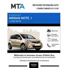 MTA Nissan Note I HAYON 5 portes de 03/2009 à 02/2014