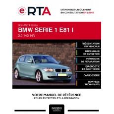 E-RTA Bmw Serie 1 I HAYON 3 portes de 01/2007 à 07/2011