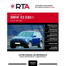 E-RTA Bmw X3 I BREAK 5 portes de 08/2006 à 08/2010