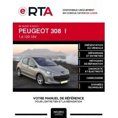 E-RTA Peugeot 308 I HAYON 5 portes de 09/2007 à 03/2011