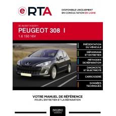 E-RTA Peugeot 308 I HAYON 3 portes de 09/2007 à 03/2011