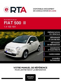 E-RTA Fiat 500 II HAYON 3 portes de 07/2007 à ce jour
