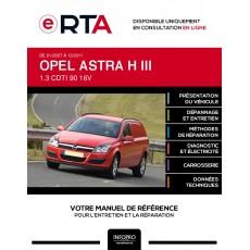 E-RTA Opel Astra III FOURGON 3 portes de 01/2007 à 12/2011